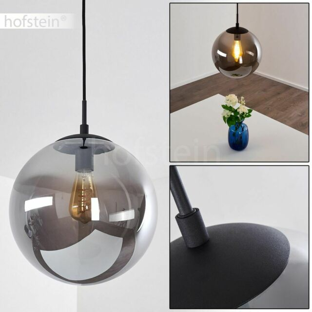 Decken Design Kugel Lampe Glas rauch Leuchte Beleuchtung Büro Küche Diele Büro