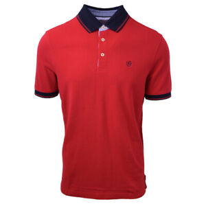 Bugatti-Men-039-s-Premium-Finish-Red-S-S-Polo