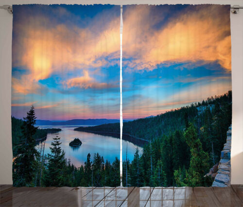 Lake Tahoe Curtains 2 Panel Set for Decor 5 Sizes Available Window Drapes