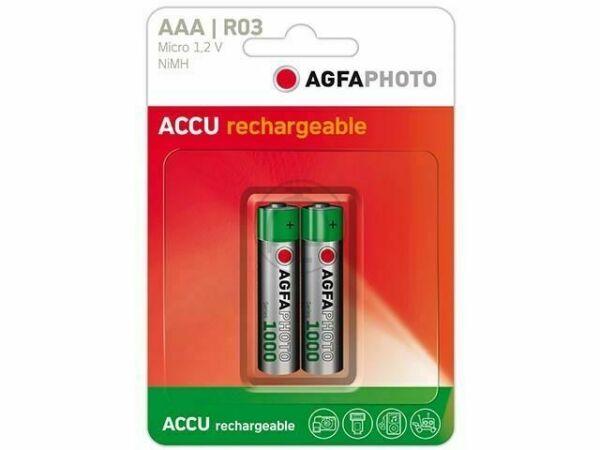 900 mAh N/íquel e Hhidruro Met/álico AgfaPhoto Batterijen 1x4 AgfaPhoto Akku NiMh Micro 900 mAh 1.2 V