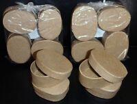 Lot Of 12 Mini Oval 2 Inch Paper Mache Boxes Lids Jewelry Trinket U Paint