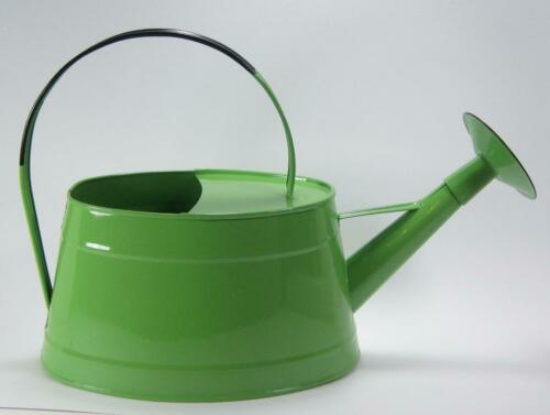 Metal Oval Lime Colored Watering Can 1 Gallon Water Capacity with Shower Spout