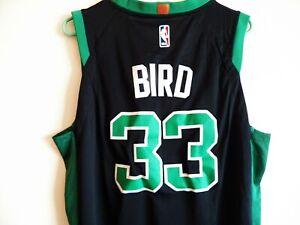 Retro Larry Bird #33 Boston Celtics Swingman Jersey Stitched Basketball Green