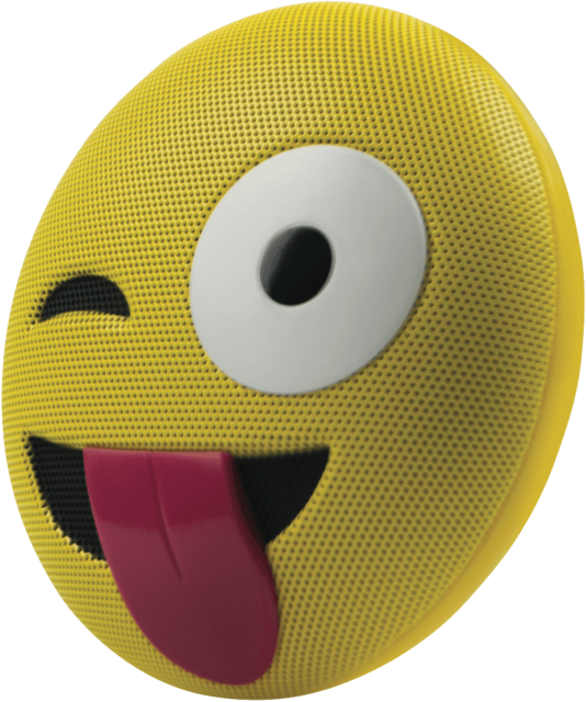 Jamoji HX-PEM8-AU Winking Emoji Portable Bluetooth Speaker - Yellow