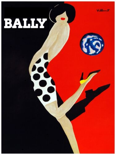 3075.Polka Dress Bally Girl POSTER.Home Room Wall art decoration in Black /& Red