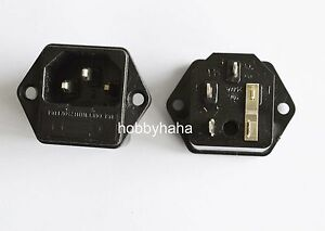 5pcs Black 3 Pin Switch AC Power Socket Switch