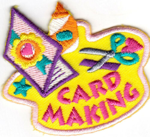 "CRAFTS HOBBY HOLIDAY /""CARD MAKING/"" Iron On Embroidered Patch"