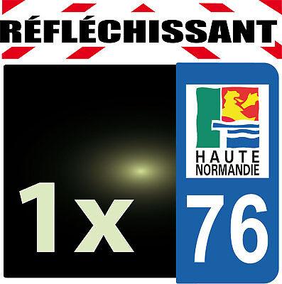 Genereus Departement 76 Réfléchissant Plaque Auto 1 Sticker Autocollant Reflectif Geschikt Voor Mannen, Vrouwen En Kinderen