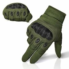 Adjustable Men's Tactical Gloves Hard Knuckle Sewn-in Brass Knuckles Army XL
