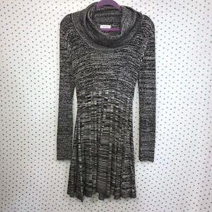 c534632eb8 Calvin Klein Size Medium Cowl Neck Fit   Flare Sweater Dress Long ...