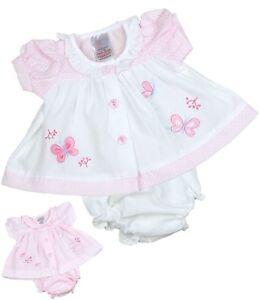 babyprem-Prematuro-Temprano-Ropa-Bebe-Bebe-Pequeno-Vestidos-blanco-y-rosa-3-5-5