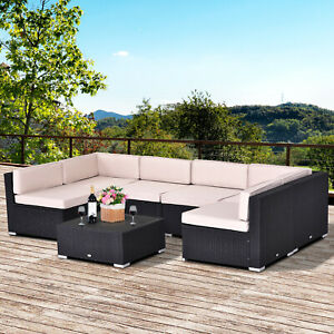 Outsunny-7pcs-Outdoor-Patio-Furniture-Set-All-Weather-Wicker-Rattan-Conversation