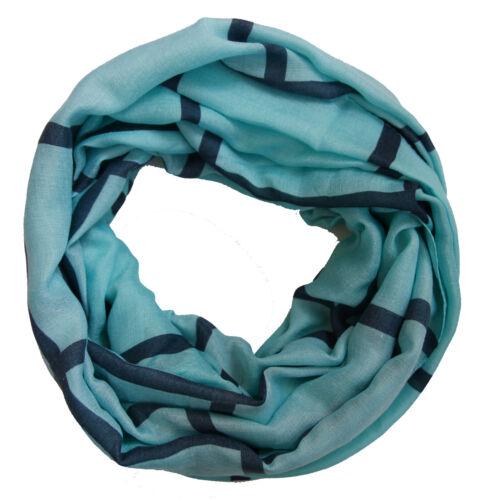 Damen Loopschal mit dezentem Streifen Muster mint Loop Schal