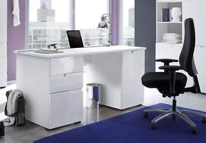 Image Is Loading Aspen Soft White Gloss Computer Laptop Study Desk