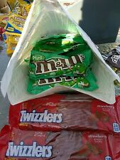 (33+ CANDIES!) 23 M&M'S Mint Dark Chocolate Candy Bag 1.5 oz + 10 Twizzlers