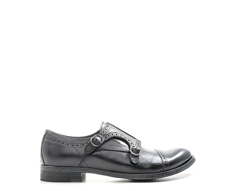 shoes HOLE B Homme black Brogue,Cuir naturel BR005TAP-NE