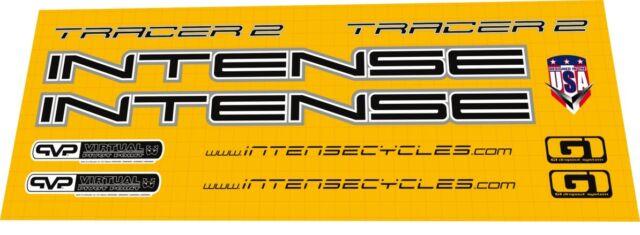 INTENSE TRACER 2002 CUSTOM MADE FRAME DECAL SET