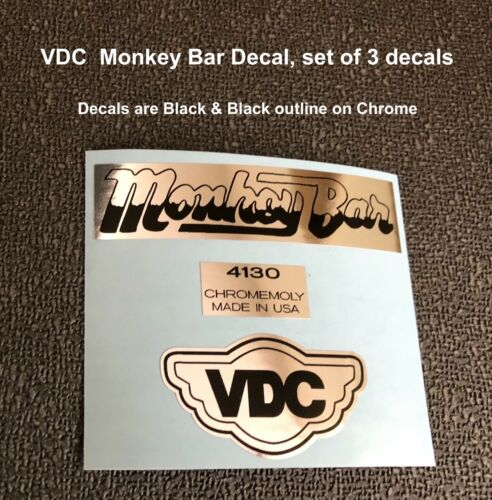 VDC Monkey Bar Decal Set includes all 3 decals shown.