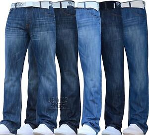 New-Mens-Smith-and-Jones-Bootcut-Straight-Leg-Jeans-All-Waist-Leg-Sizes-Flared