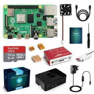 Labists-Raspberry-Pi-4-B-modele-B-4-Go-Starter-KIT-Carte-mere-32-Go-Carte-SD