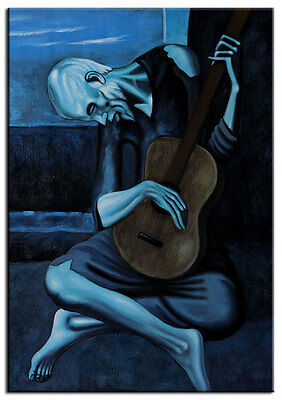The Old Guitarist Pablo Picasso Fine Art Print Mural inch Poster 36x54 inch