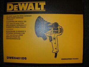 DEWALT-DWE6401DS-5-034-Variable-Speed-Disc-Sander-with-Dust-Shroud-New