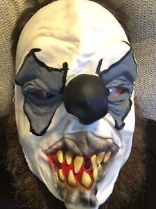 Killer-Clown-Gomma-Halloween-Maschera-Spaventoso-Maschera-Maschera-Viso-EUC