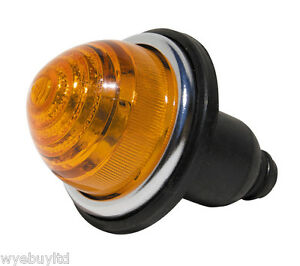 Complete wired amber indicator lamp assembly light bulb for classic vintage car