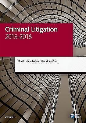Mountford, Lisa,Hannibal, Martin, Criminal Litigation 2015-2016 11/e (Legal Prac