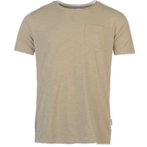 Pierre Cardin Layered Crew Neck T-shirt Camel Marl Size XXXXL 4XL LF084 DD 01