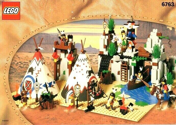 Boxed Lego Western 6763 Rapid River Indian Village, 100% COMPLETE, Instructions