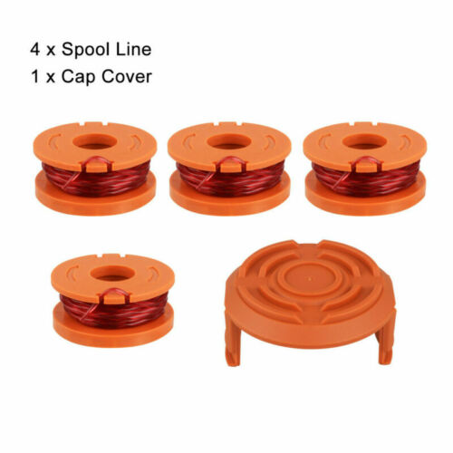 4//6 Pcs Hot WORX WA0010 Replacement Spool Line For Grass Trimmer Edger W// Cap US
