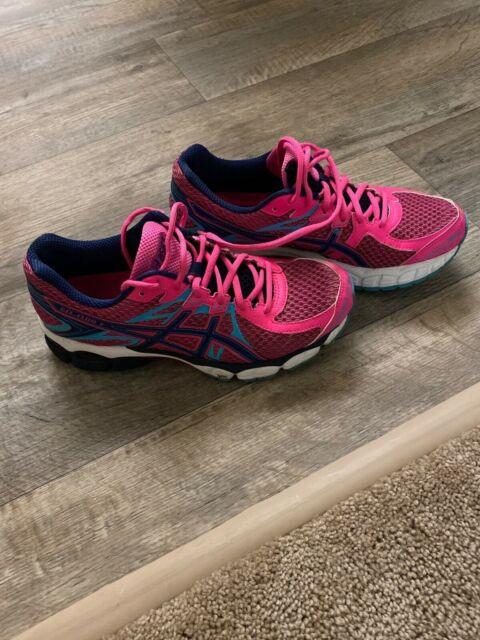 Womens Asics Gel Flux 2 Running Shoes Sz 8.5 Euc!PinkAthletiC/running/walking