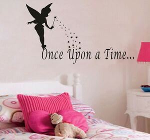 Image is loading ONCE-UPON-A-TIME-Quote-wall-sticker-Vinyl- & ONCE UPON A TIME Quote wall sticker Vinyl Decal Baby Room Wall ...