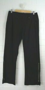 COUNTRY-ROAD-Black-Straight-Leg-Pants-Wide-Waistband-Size-12