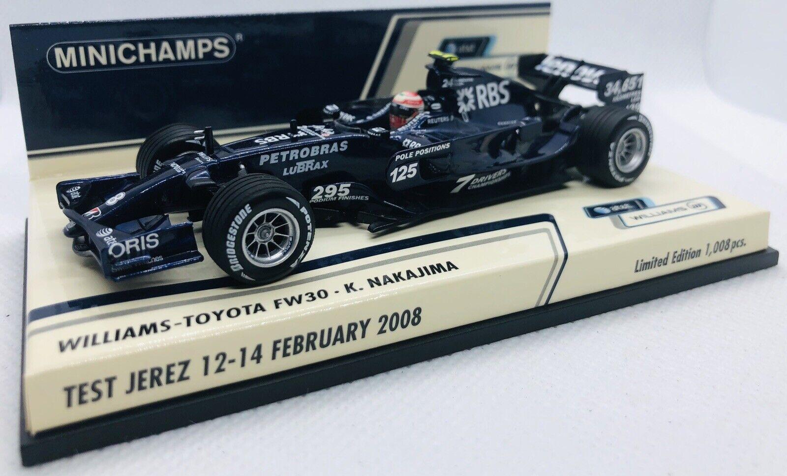 Nakajima fórmula 1 2008-1:43 Minichamps Williams-toyota FW 30 nº 8 K