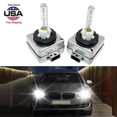 2X HID D1S D1R D1C Xenon Bulbs Headlight OEM Stock Replacement 6000K Light White