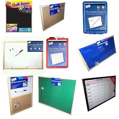 NOTICE BOARDS CORK MONTHLY Black WEEKLY DRYWIPE FABRIC PIN BOARDS