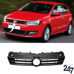 NEW-VOLSWAGEN-VW-POLO-2009-2014-FRONT-BUMPER-UPPER-GRILL-WITH-CHROME-MOULDING