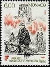 """MONACO STAMP 1870 """" PROTECTION CIVILE POMPIERS SAUVETEUR AVEC CHIEN """" NEUF xxTTB"""