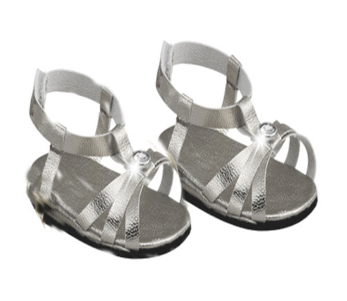 Silver Jewel Sandals Fits 18 inch American Girl Dolls