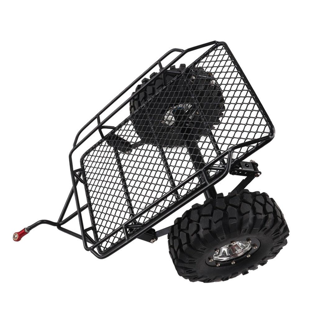 1 10 RC Car Crawler Trailer Kit for TRX4 SCX10 D90 RC4WD CC01 HSP Redcat HPI
