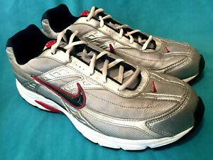 niska cena sprzedaży niesamowite ceny później Details about Men's NIKE Initiator Silver Black Red Athletic Shoes Sz 12