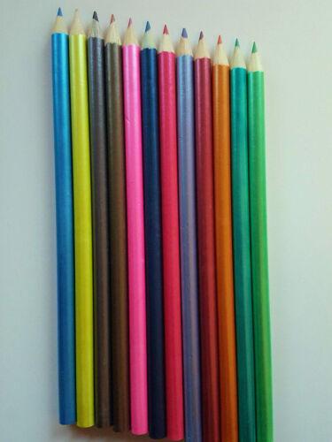 12 Lápices de Colores Artista Dibujo Dibujo tono tonos de arte imagen Metálico