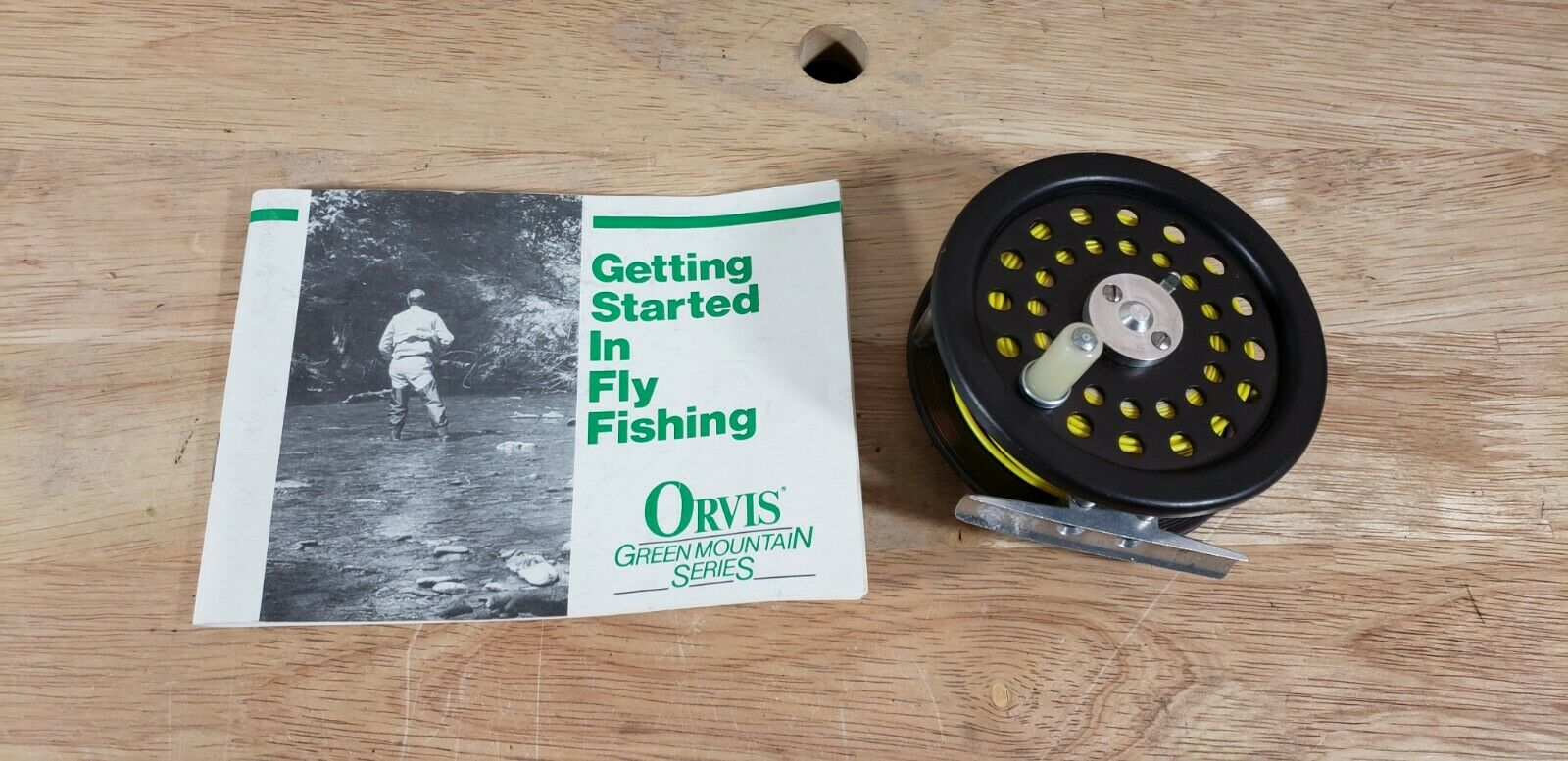 Vintage Orvis 1915 ER Fly pesca Reel with uomoual