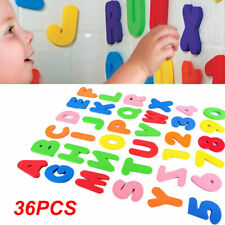 36x Kind Baby Kinder AB 12 Schaum Buchstaben Zahlen Badewanne Spiel Spielzeug LD