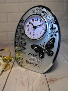 Image Is Loading 25th Wedding Anniversary Gift Silver Clock