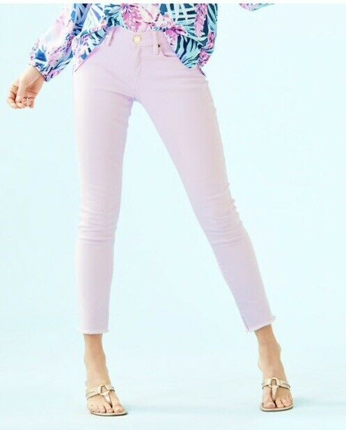 New Lilly Pulitzer Sweet lila South Ocean Skinny Pant Jean Sz 6 Retail  148