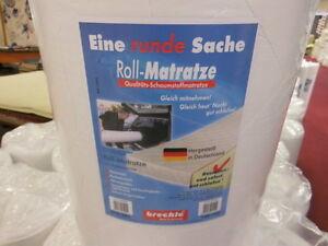 Schaumstoffmatratze-Rollmatratze-90-x-200cm-Kaltschaum-Matratze-Komfort-weiss-Neu
