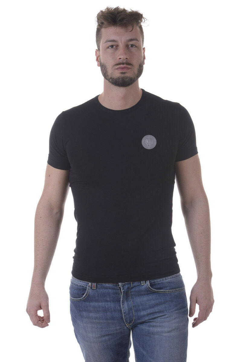 T shirt Maglietta Versace Jeans Sweatshirt EXTRASLIM  Herren Nero B3GPA7E0 899